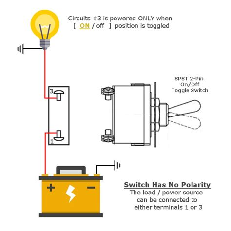metal toggle switch 2 pin spst mgi speedware