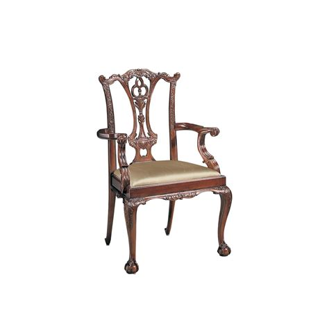 kitchen armchair mahogany chippendale arm chair with carved legs dining