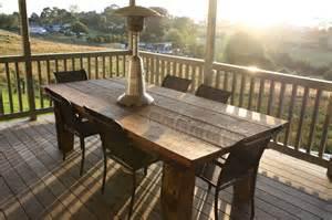 Rustic Patio Tables Rustic Outdoor Table Felt