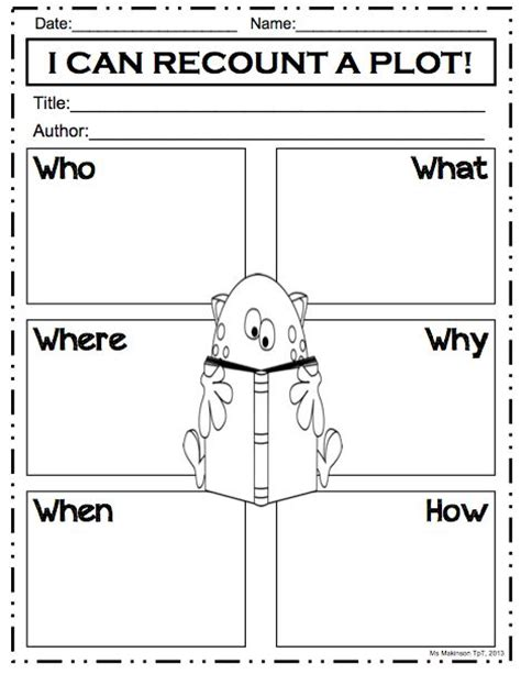 5 W S Worksheet by 24 Best Graphic Organizers Images On Reading
