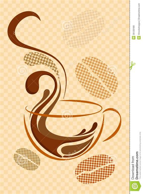 coffee cafe wallpaper vector coffee background stock illustration image of meal