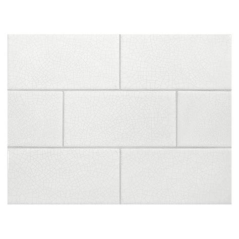 vermeere ceramic tile bleach white crackle with grey