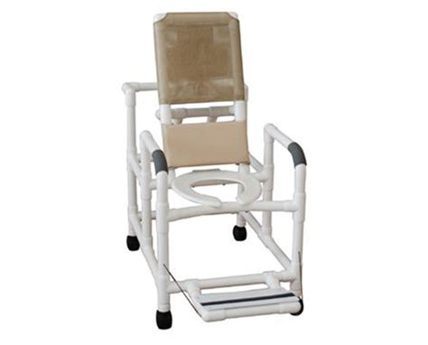 reclining commode chair mjm reclining shower commode with commode save at tiger