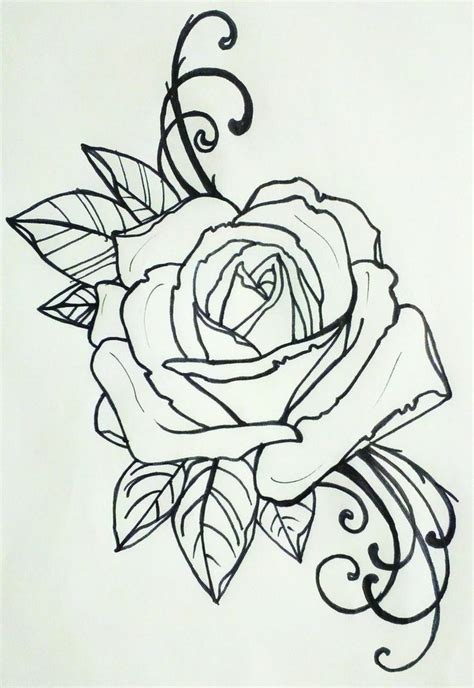 d rose tattoos tattoos sketchings
