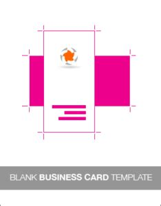 Free Blank Vertical Business Card Template by Resources This Design