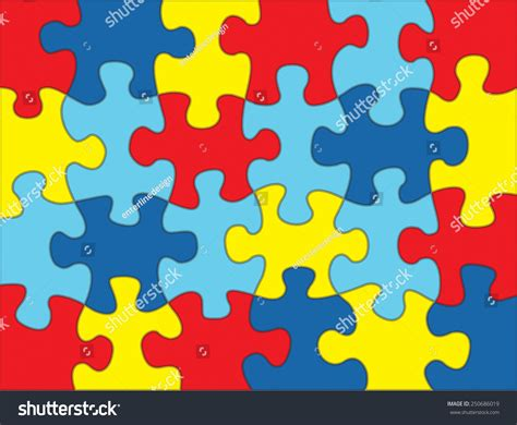 color for autism colorful autism awareness puzzle background illustration