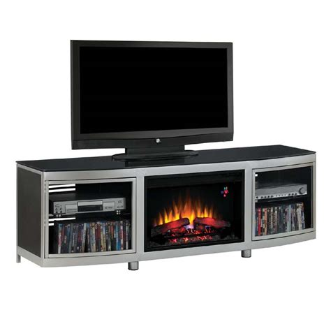 tv stands with fireplace insert classic gotham 73 inch tv stand with electric fireplace insert silver 26mm9313 d974