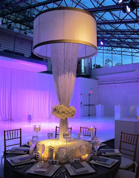 Diy Chandeliers The Quot Crystal Lampshade Quot Design At The Tribeca Rooftop The