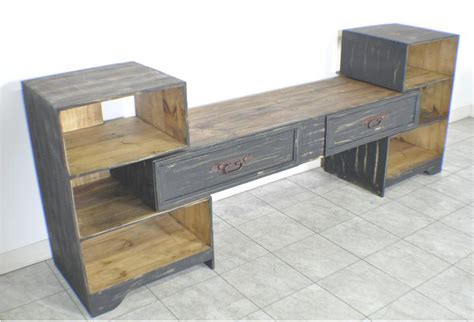 black 2 tier drawer pine wood contemporary style living jj s rustic pine black distressed entertainment center