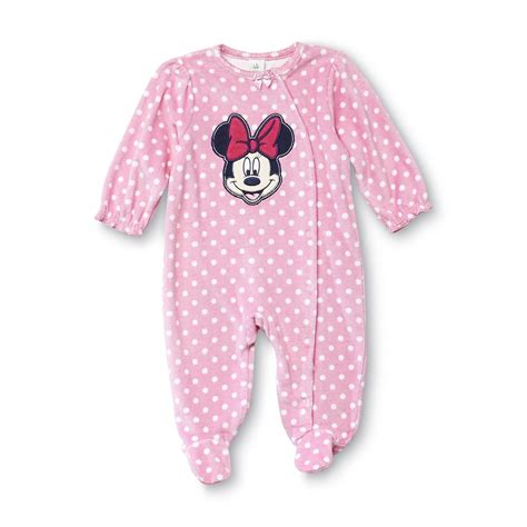 disney baby minnie mouse newborn s fleece sleeper