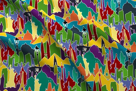 brightest l in the world metromash cityscapes of the world bright fabric scrummy