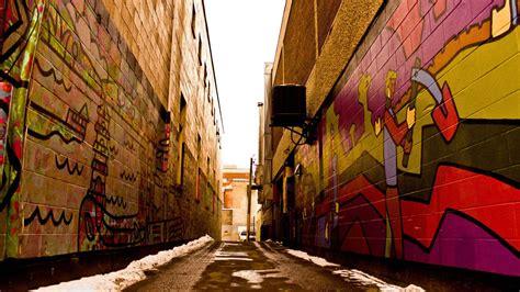 download wallpaper graffiti gratis graffiti covered alley walls wallpaper