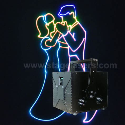 rgb laser light show projector high bright ilda 7w rgb animation high power laser stage