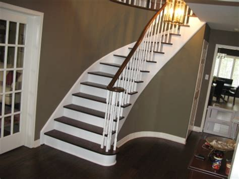 How To Refinish Stair Banister by Cost To Refinish A Staircase Banister Ask Home Design