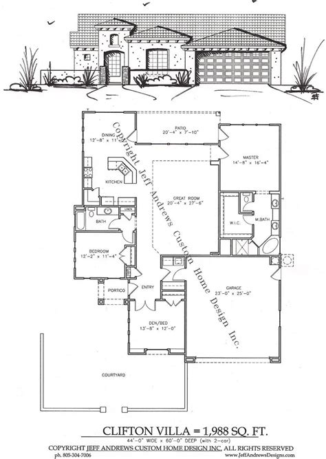 andrews home design group clifton villa 1 988 00 andrews home design group st