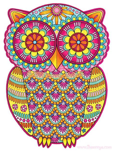 Ease By Owl Book Store groovy owls coloring book by thaneeya mcardle thaneeya
