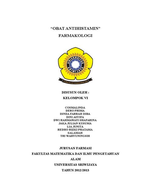 Obat Antihistamine antihistamin