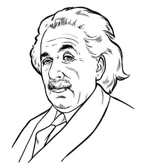 printable biography of albert einstein face albert einstein coloring pages kids coloring pages