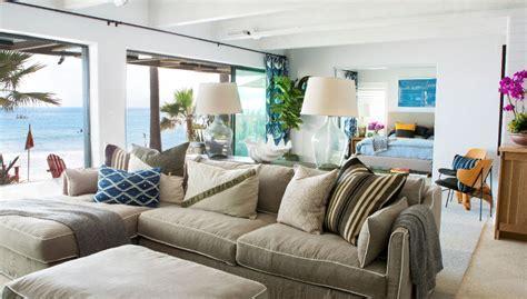 Malibu Beach House With Colorful Coastal Interior Decor