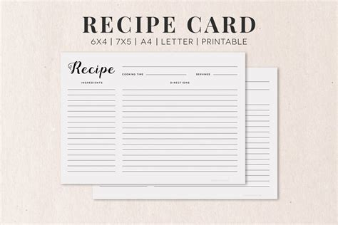 Free Cooking Recipe Card Template Rc1 Creativetacos Recipe Cards Free Templates