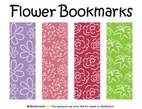 printable flower bookmarks
