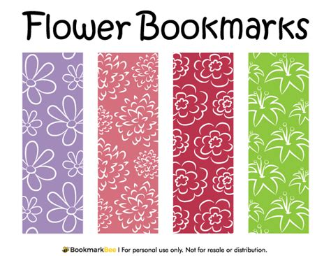free printable bookmarks flowers free printable flower bookmarks featuring floral patterns