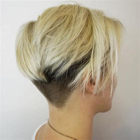 Blonde Bob Nape | 50 women s undercut hairstyles to make a real statement