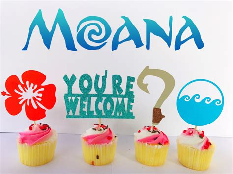 Sea Decoration Ideas Moana Moana Party Moana Cupcake Toppers Moana Cake Toppers