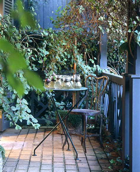 Wrought Iron Patio Table Balcony Gardens Prove No Space Is Too Small For Plants