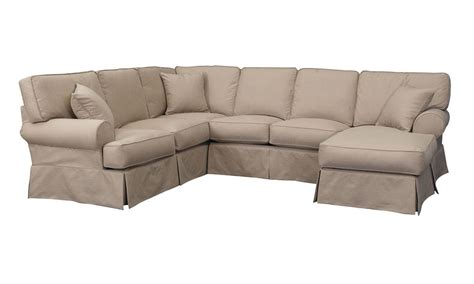 linen section malibu luxury linen sectional sofa with chaise the dump