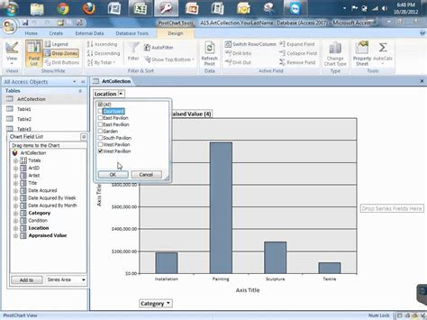 Access Pivot Table by Msoffice Access Creating A Pivot Chart In Access Mp4