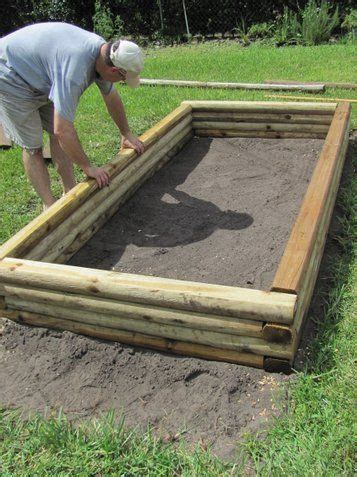 Using Landscape Timbers For Vegetable Garden Raised Garden Design On Garden Put Together Raised Garden