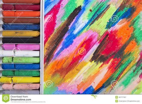 background design using oil pastel oil pastels stock photo image 45717162