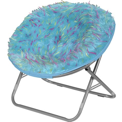 Saucer Chair by Idea Nuova Rock Your Room Spiker Faux Fur Saucer Papasan