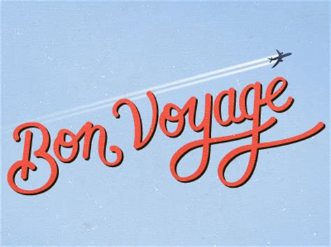 bon voyage meaning bon voyage by kyle gallant dribbble