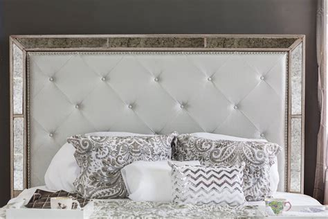 silver bed set 4 loraine antique silver bedroom set