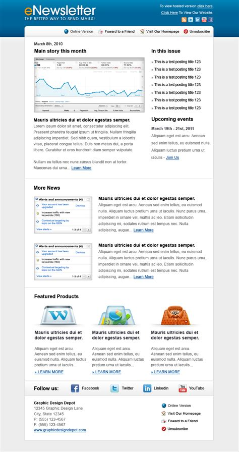 stron biz newsletter outlook template