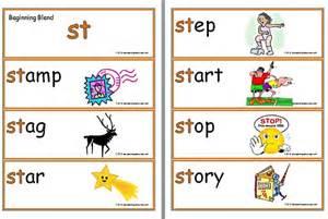 st beginning blend flashcards abc teaching resources