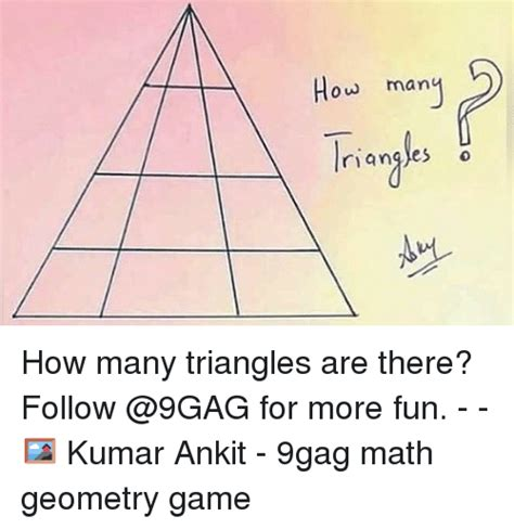 how many are there ow ou many how many triangles are there follow for