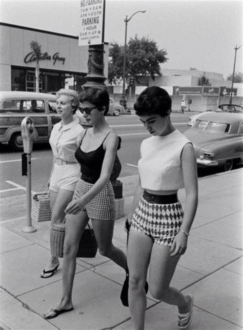 show woman photos in their fifties shirt shorts fifties old school high waisted shorts