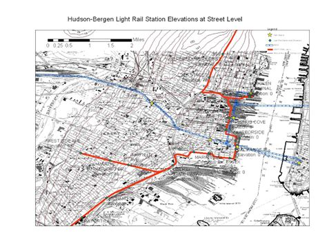 Hudson Bergen Light Rail Map by Streetcars And Spatial Analysis January 2013