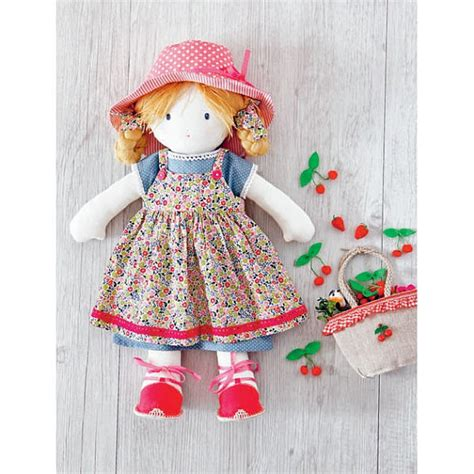 rag doll dress pattern strawberries dress sewing pattern for my rag doll 803533