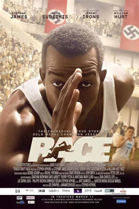 biographical drama film stephan james s race first look poster photos
