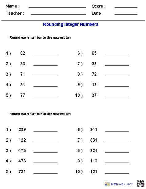 Free 6th Grade Math Worksheets by Math Worksheets Dynamically Created Math Worksheets
