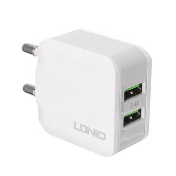 ldnio 2 usb port eu 5v 2 4a travel charger for iphone 7 6s 6 5 samsung xiaomi sale