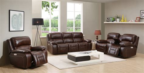 westminster genuine leather power reclining set with power