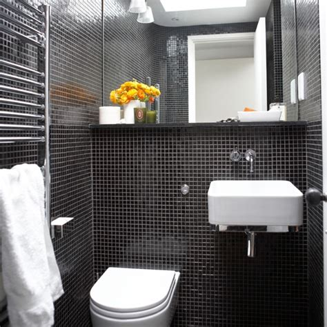 black tile bathroom ideas mosaic tiled bathroom black and white bathroom designs housetohome co uk