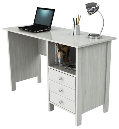 Houzz Office Desk Inval Melamine Desk White Contemporary Desks And Hutches By Inval America