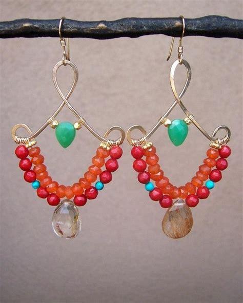 wire wrapped chandelier earrings 25 best ideas about wire wrapped earrings on