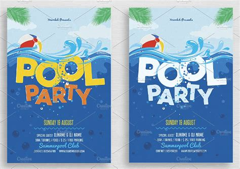 free printable kids pool party invitations templates 4 kids